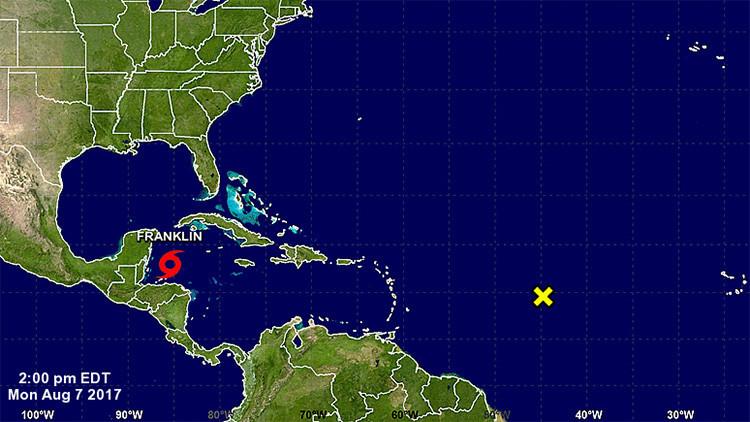 Declaran una alerta naranja en el Caribe por la tormenta tropical Franklin