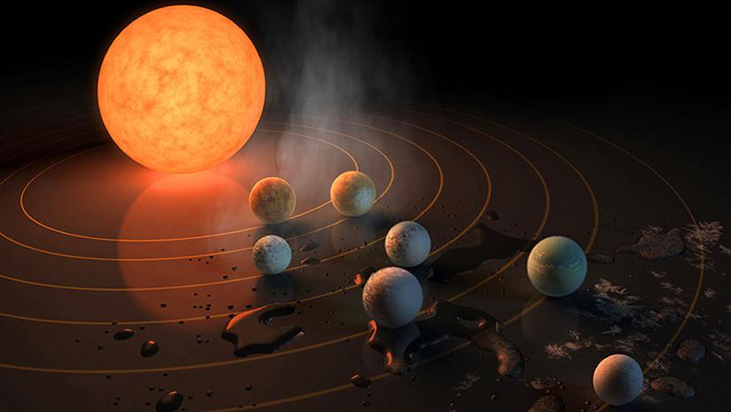 Confirman la presencia de agua en los siete planetas del sistema TRAPPIST-1