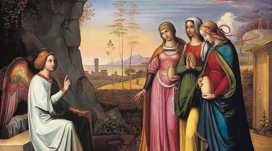 Las tres Marías en el Sepulcro / Pintura de Peter von Cornelius (1783–1867)