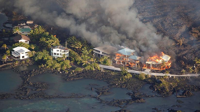 IMPACTANTES IMÁGENES: Así 'se traga' la lava vecindarios enteros de la Isla Grande de Hawái (VIDEOS)