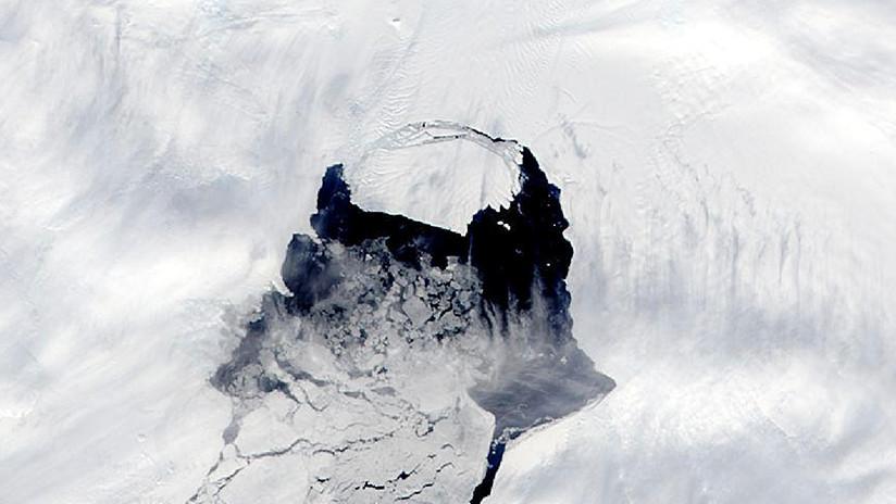 Un inmenso iceberg está por desprenderse del glaciar Isla Pine en la Antártida