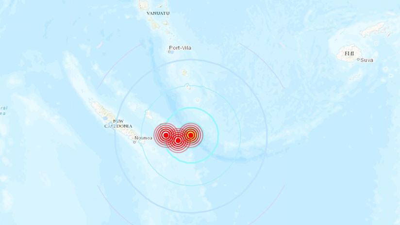 Una serie de potentes terremotos se registra cerca de Nueva Caledonia