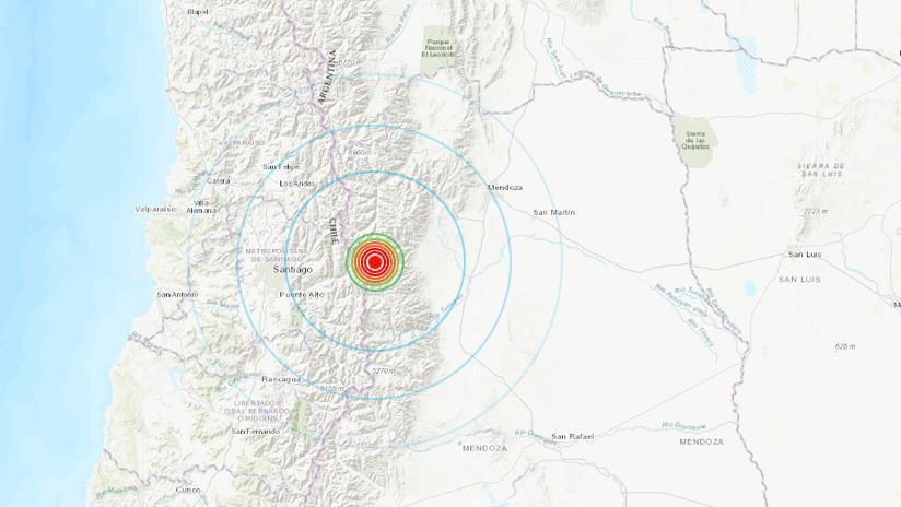 Argentina: Se registra un sismo de magnitud 4,5 cerca de la frontera con Chile
