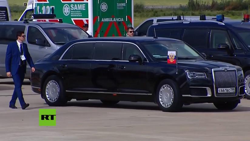 Putin no llega solo: La espectacular limusina Aurus desplazará al mandatario por Argentina (VIDEO)