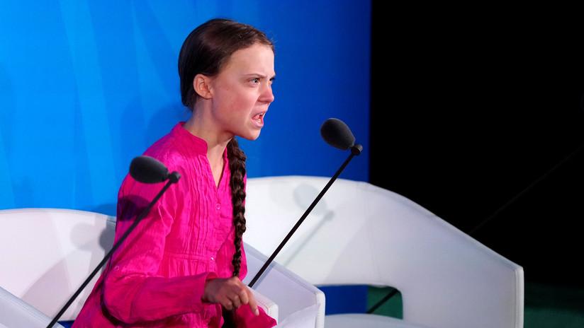 """Greta Thunberg fustiga a líderes globales: """"Estamos en el principio de una extinción masiva y ustedes solo hablan de dinero"""""""